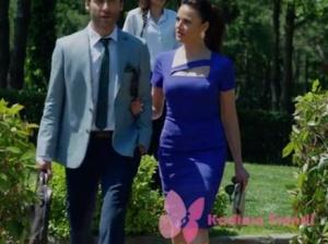 Ateş Böceği İlayda kıyafetleri İlayda mavi dar elbise Network marka.