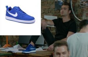 Dolunay-3.-bölümde-Denizin Nike Mavi Beyaz Spor Ayakkabıları