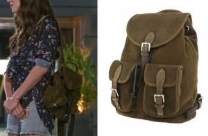 Dolunay 4. bölüm Nazlı yeşil sırt çanta markası Tullaa.