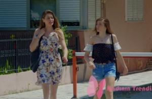Dolunay 4. bölüm Fatoş mavi beyaz çiçekli elbise ve Asuman Puantiyeli siyah bluz markaları araştırılıyor.