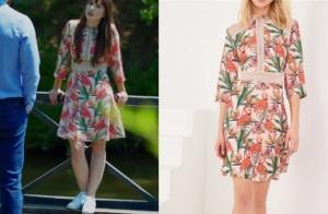 Dolunay Bulutun doğum gününde Nazlının giydiği çiçekli elbise Trendyol Milla marka
