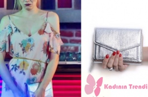 Dolunay 6. bölümde Fatoş karakterinin Engin ile yüzleştiği an kullandığı gri çanta Pinky Lola marka.
