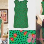 Kalp atışı 6. bölümde Esma'nın giydiği yeşil tulum yeşil elbise Zara marka
