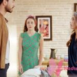 Kalp Atışı 6. bölümde Eylül'ün giydiği lacivert bluz markası araştırılıyor