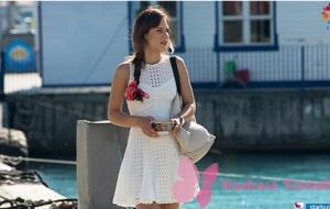 Ateş Böceği 3. Bölüm Aslı'nın teknede giydiği beyaz elbise hangi marka?