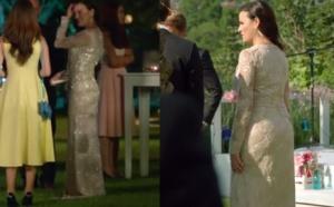 Ateş Böceği 5. bölümde İlayda'nın davette giydiği ekru elbisesi ve küpe markaları araştırılıyor.