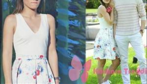 Ateş böceği 3. bölüm Dizi Kıyafetleri Aslı beyaz çiçekli elbise markası web sitemizde