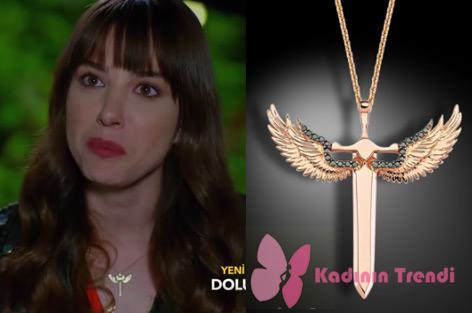 Dolunay 11. bölümde Nazlının taktığı melek kolyeDevon Diamond markadır.