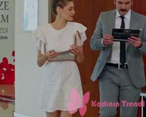 Dolunay Fatoşun nikah sahnesinde giydiği beyaz elbise markası araştırılıyor