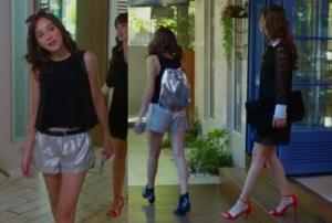 Dolunay dizi kıyafetleri Nazlı kırmızı ayakkabı stradivarius Siyah elbise Zara Alya metalik çanta Alya Metalik şort Alya Siyah bot Markaducom