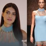 Fazilet Hanım ve Kızları 16. bölüm Kıyafetleri Hazal mavi püsküllü elbise Nereden. Hazal mavi elbise Aslı Alev markadır.