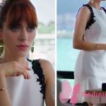 Fazilet Hanım ve Kızları yasemin karakterinin beyaz elbisesi Trendyol