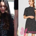 Kalp Atışı 11. bölümde Esma'nın giydiği puantiyeli siyah elbise Zara marka.