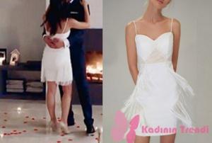 No 309 son bölüm kıyafetleri Lale karakterinin beyaz püsküllü elbisesi Trendyol Milla