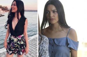 Rüya 2.bölüm kıyafetleri Elif'in giydiği Siyah Bluz ve çiçek desenli mini şort etek hangi marka? bu kıyafetlerin markaları araştırılıyor.