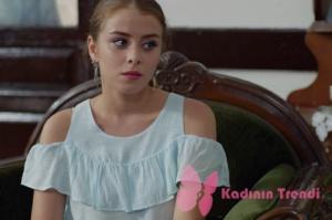Rüya 4. bölüm Ceren omuz kısmı açık fırıfrlı beyaz bluz Koton marka.