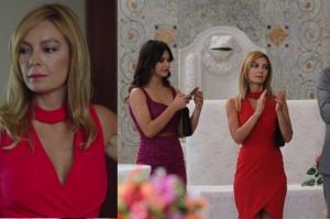 Rüya 5. bölüm Ruhşan'ın nikahta giydiği kırmızı elbise