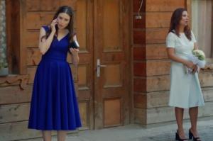 Rüya 5. bölüm Yıldız Saks Mavisi Elbise
