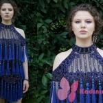 Selin mavi püsküllü elbise Fazilet Hanım ve Kızları 14. Bölüm kıyafetleri