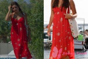 Siyah İnci dizisinde Hande Erçelin canlandırdığı Hazal Kırmızı Çiçekli Elbise nereden?