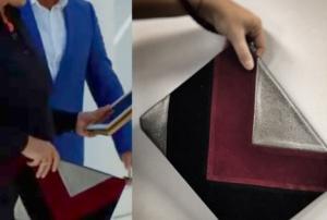 Siyah İnci ilk bölüm Canan karakterinin kullandığıgri bordo siyah renkli portköy çantaBlack Ribbonmarkadır.
