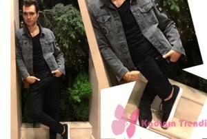 dOLUNAY 12. BÖLÜM DİZİ KIYAFETLERİ Deniz siyah kot ceket siyah kot pantolon siyah tişört ve beyaz tabanlı siyah spor ayakkabı kombini markaları web sitemizde