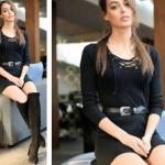 ukur dizisi Senanın siyah elbise ve siyah çizme kombini Sena siyah elbise markası araştırılıyor. Siyah Çizme İnci Deriden
