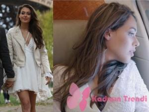 Çukur dizisinin ilk bölümünde Senanın giydiği beyaz elbise Esra Gürel tasarımıdır