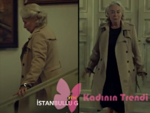 İstanbullu Gelin Esma Kıyafetleri Esma krem rengi trençkot