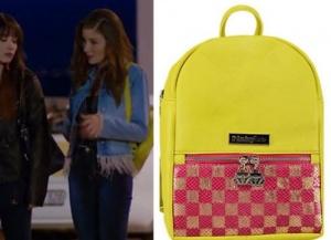 Asuman sarı pembe sırt çantası hakiki deridir ve markası Pinky Lola