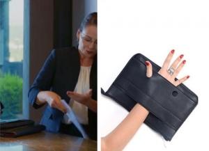 Dolunay İkbal Hanım siyah el çantası Pinky Lola Design marka