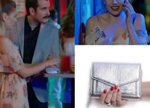 Dolunay Dizisi 6.Bölüm Fatoş Karakterinin Hakiki Deri Gümüş Portföy çantasıPinky Lola Design.