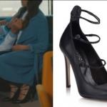 Kalp Atışı Eylül karakterinin giymiş olduğu siyah topuklu ayakkabı markası Hotiç.