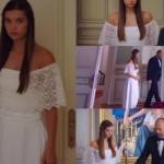 Fazilet Hanım ve Kızları Ece nikahta giydiği beyaz elbise Aylin Yılmaz marka