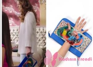 Fazilet Hanım ve Kızları Selin el çantası Pinky Lola Design marka