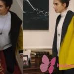 Fazilet Hanım ve Kızları son bölüm Hazan sarı Fazilet Hanım ve Kızları Hazan sarı ceket markası Miss Dalida İstanbul