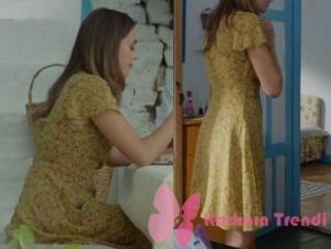 Siyah İnci kıyafetleri 4. bölüm Ebru sarı elbise hangi marka