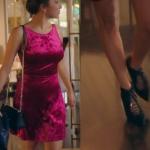 Ufak Tefek Cinayetler Burcu Kadife Fuşya elbise ve topuklu ayakkabılar hangi marka?