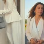 Ufak Tefek Cinayetler Oya beyaz pantolon ceket takım Forever New marka