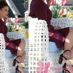 Ufak tefek cinayetler Aslıhan Gürbüz - Merve Kıyafetleri merve bordo elbise ve işlemeli topuklu ayakkabı markası