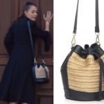 Çukur 5. bölümde Sena karakterinin torba şekilli omuz çantası Casevie marka.