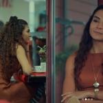 İstanbullu Gelin Burcu'nun turuncu elbisesi Özlem Kaya marka