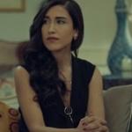 İstanbullu Gelin Dilara siyah elbise ve Kolye dilara küpe