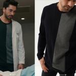 - Kalp Atışı Son Bölümde Gökhan Alkan'ın dizide giydiği siyah gri triko kazak People BY Fabrika markadır.