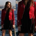 Cukur 3. bölüm dizi kıyafetleri Sena kırmızı ceket Koton marka Sena siyah elbise Ekol marka