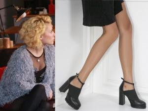 Derin Siyah Topuklu ayakkabı İlvi marka