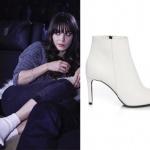 Dolunay son bölümde Nazlının giydiği Beyaz botlar: Casavie Shoes marka.