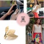 Esin'in taktığı yaprak desenli yüzük markası Atelier Petites Pierres