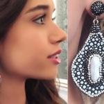 Fazilet Hanım ve Kızları Ece'nin siyah beyaz küpesi Urban Queen marka