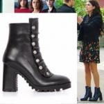 Fazilet Hanım ve Kızları Hazal'ın giydiği siyah botlar İlvi marka